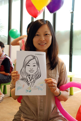 caricature live sketching for Foresque Residences Roadshow - Day 2 - 16