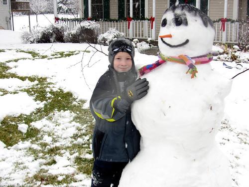 Kade & Mr. Snowman