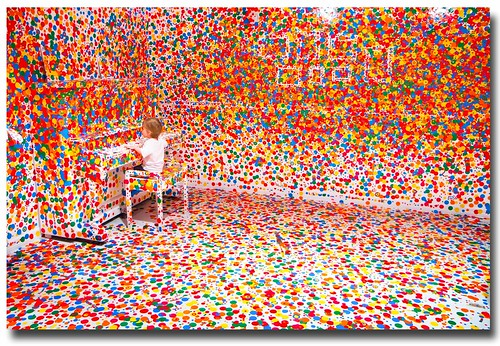 Yayoi Kusama's 'The obliteration room'