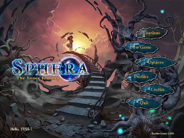 Sphera main menu