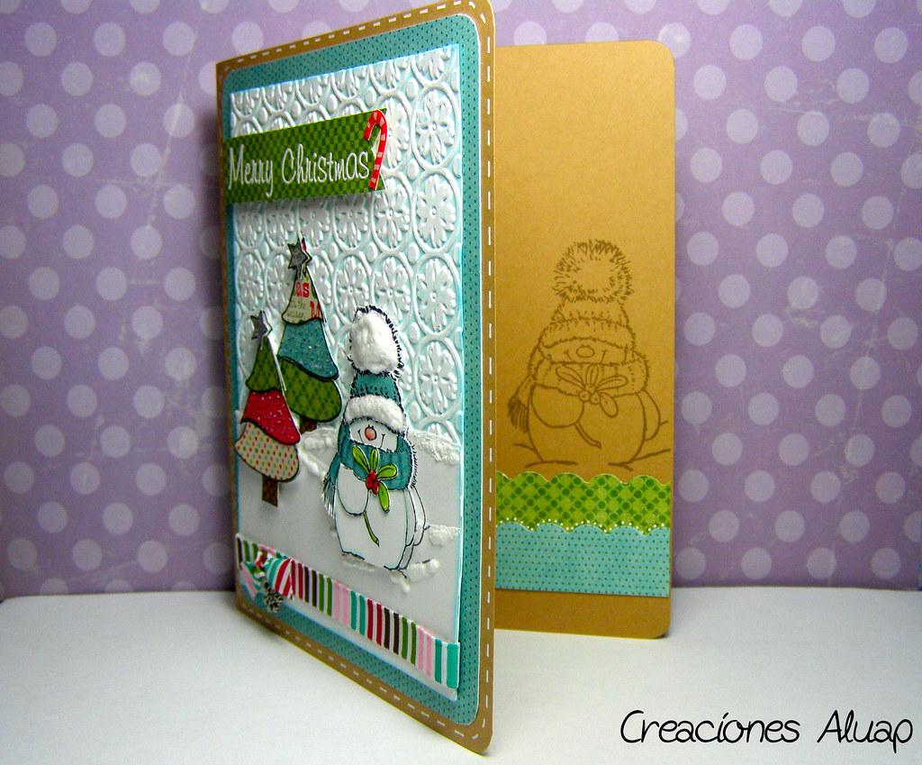 Tarjeta navidad jolly friends chritsmas card jolly - Tarjeta navidad manualidades ...