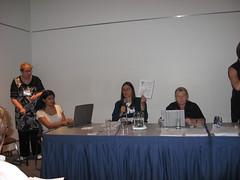 Anne Hawker, Shantha Rau-Barriga, Marca Bristo and Kicki Nordstrom