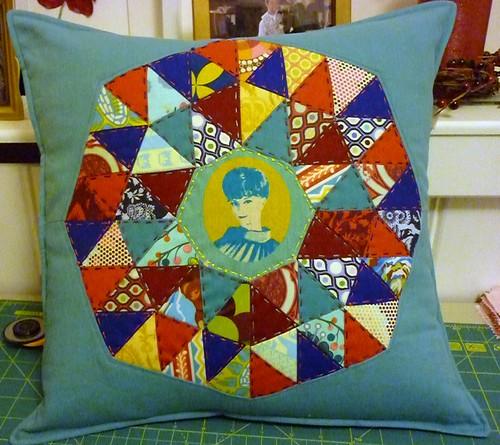 Finished Katy's consolation cushion
