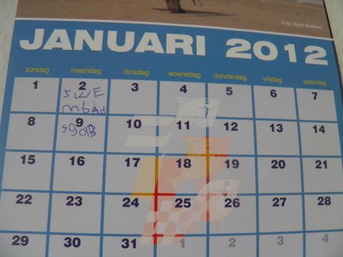 kalender januari 2012