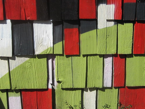 Spraypaint Colors on Wooden Shingles