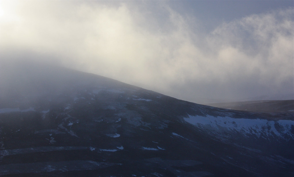 Snow over Mount Keen