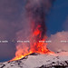 Lava Vs Snow - Etna,19° Parossismo by Marco Restivo