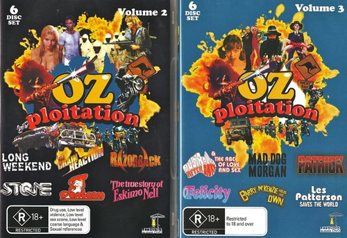 Ozploitation volumes 2 and 3 DVD sets