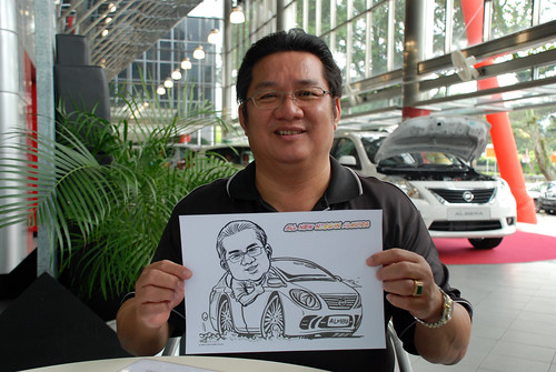 Caricature live sketching for Tan Chong Nissan Almera Soft Launch - Day 2 - 2