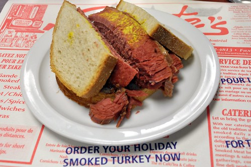 Lean smoked meat sandwich from Schwartz's