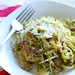 Spaghetti with Bacon, Brussels Sprouts and Artichokes 1