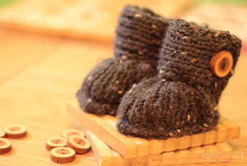 Girls Knitted Hat Pattern : Bakercourt - Knitting, Sewing, Crafting.: Booties for Baby Agnew