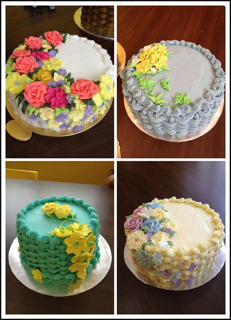 Wilton Buttercream Cake Decorating Ideas : Wilton Method of Cake Decorating Course 2 basketweave ...