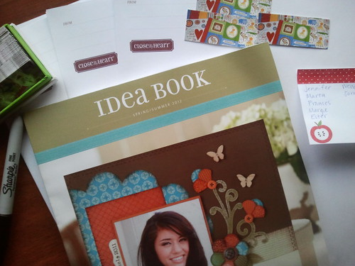 January Goals: Mail out new Close to My Heart idea book