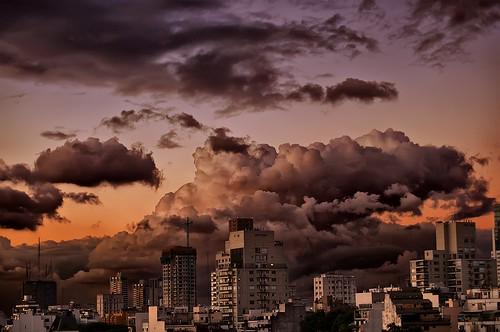 city sunset argentina clouds buildings edificios buenosaires day cloudy ciudad nubes ocaso