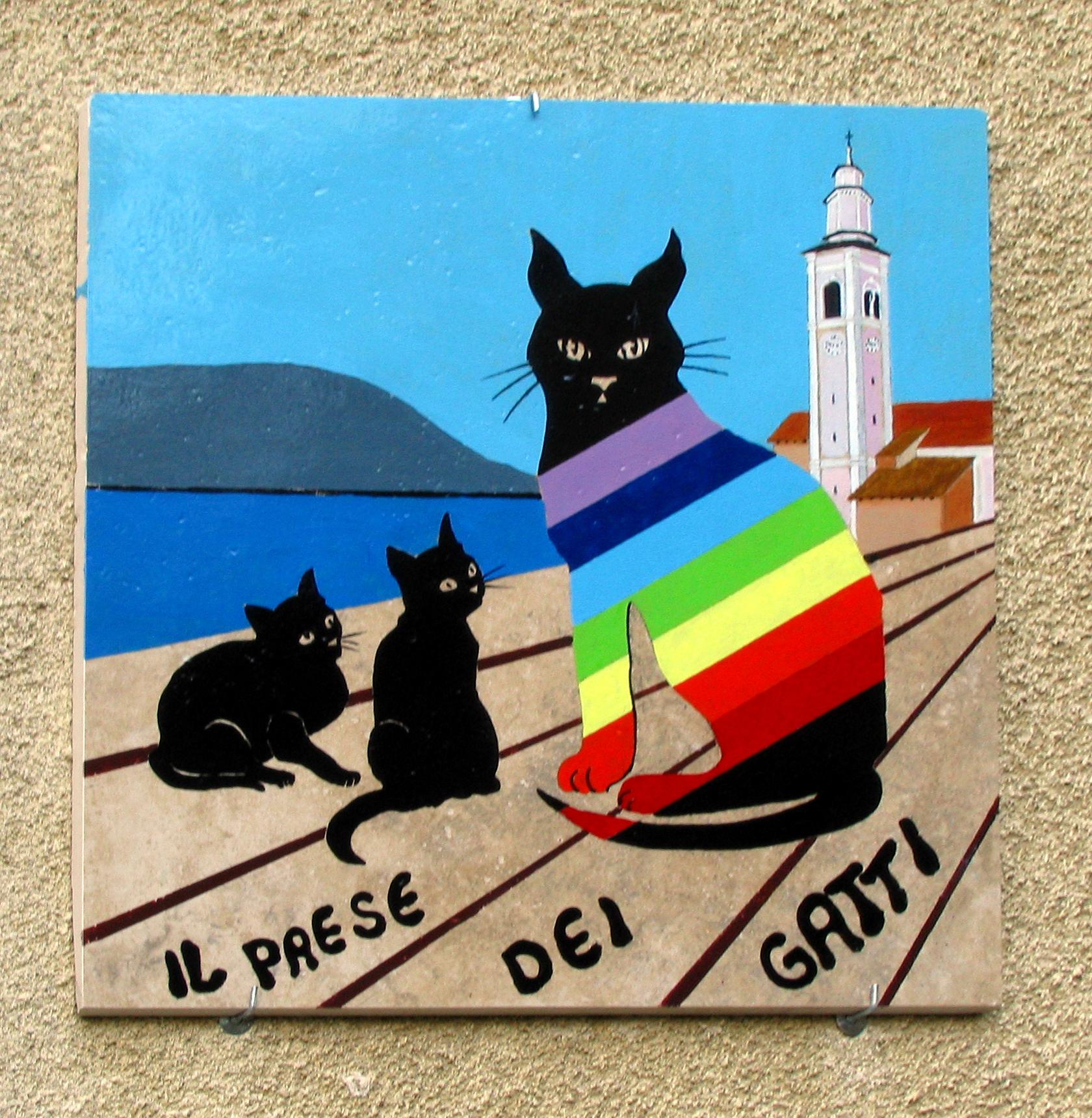 Brolo lago d orta il paese dei gatti brolo in for Il linguaggio dei gatti