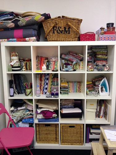 fabric shelves