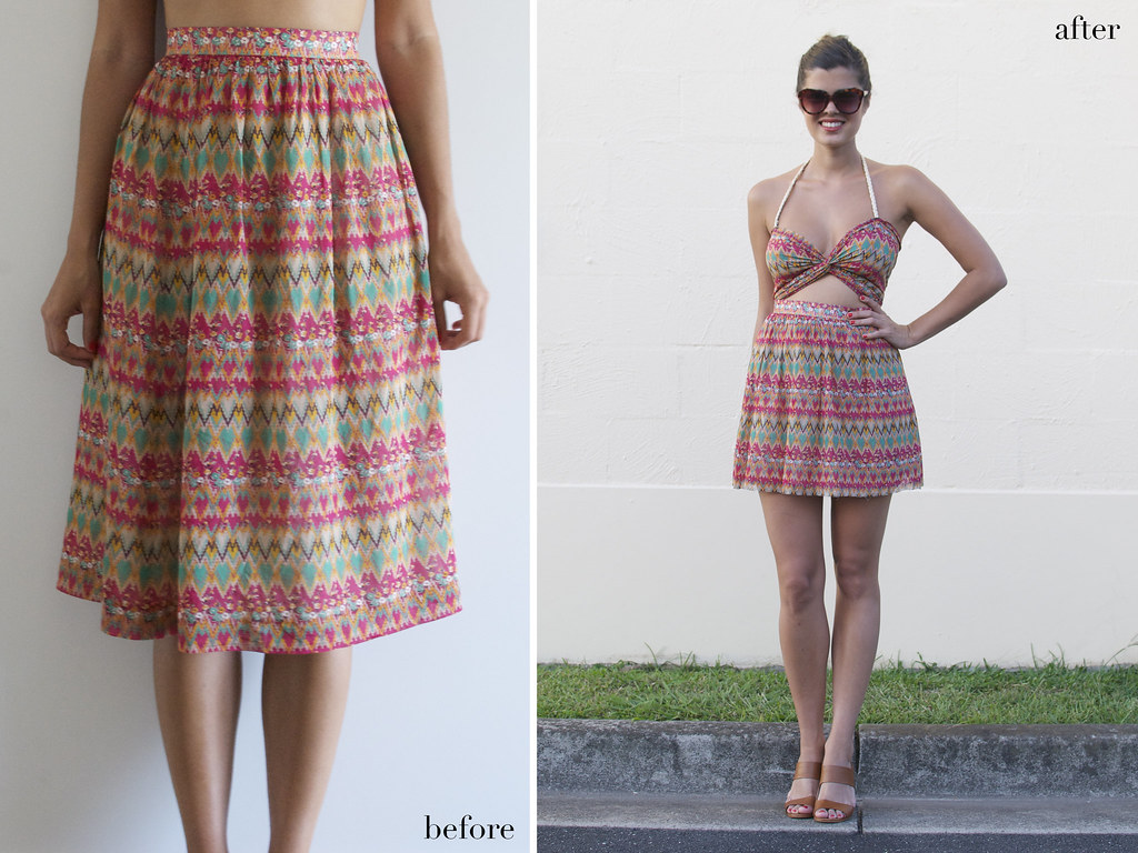 turn a skirt into a sexy dress