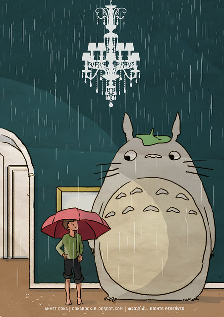 my upstairs neighbour totoro