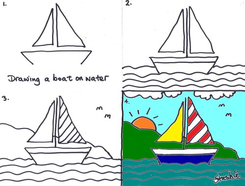 lesson 3 drawing a boat boating boat drawing and drawings - Simple Drawing Pictures For Children
