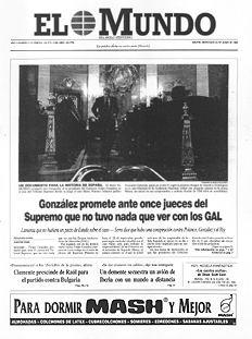 Portada El Mundo Felipe González en el Tribunal Supremo