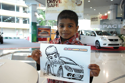 Caricature live sketching for Tan Chong Nissan Motor Almera Soft Launch - Day 4 - 7