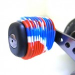 Red White Blue Fishing Reel Grip