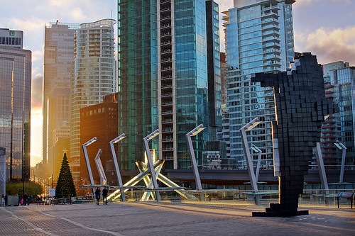Vancouver City Skyline at Convention Centre