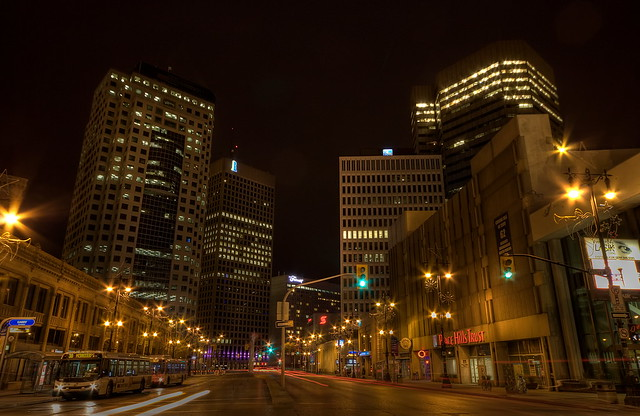 Downtown Winnipeg at Night