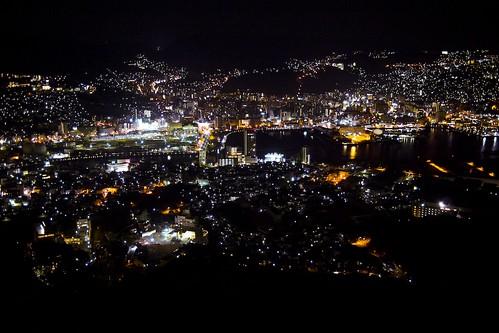 Nagasaki by night (Japan)