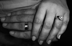 arm(0.0), hand(1.0), ring(1.0), finger(1.0), jewellery(1.0), monochrome photography(1.0), close-up(1.0), monochrome(1.0), black-and-white(1.0), black(1.0), holding hands(1.0), wedding ring(1.0),