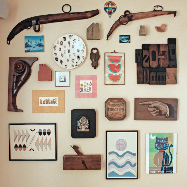 On my dad's walls
