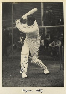 Autographed photograph of the English test cricket captain, Percy Chapman, 1928