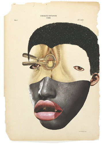 [ M ] Wangechi Mutu - Histology of the Different Classes of Uterine Tummors (2004) - Detail (n12) by Cea.
