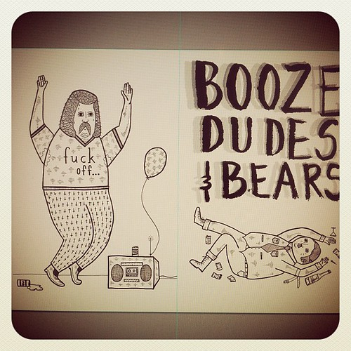 Booze, Dudes, and Bears zine coming soon by Michael C. Hsiung