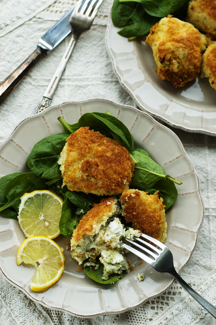 haddock and goat's cheese fish cakes