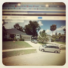 Holy crap you guys, that's ME on google street view pulling into my driveway!