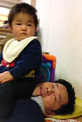首に座られて苦しい(2012/1/28)