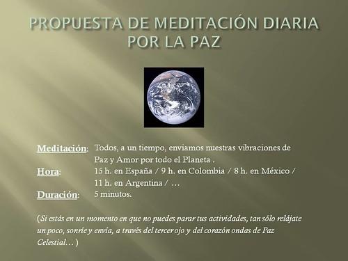 Meditación diaria por la Paz 8