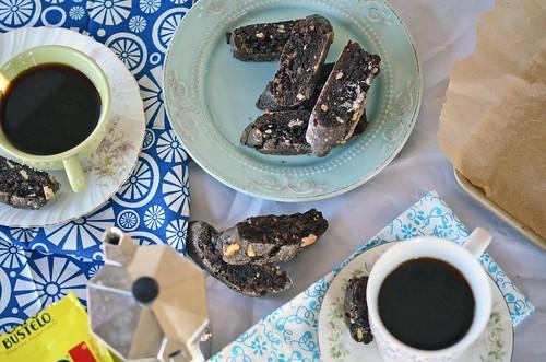 chocolate walnut biscotti  fork vs spoon