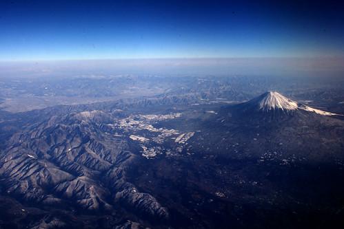 Mt. Fuji desde el avión