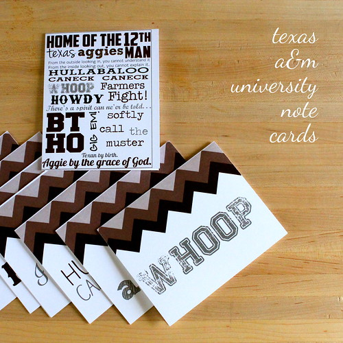 a&m note cards