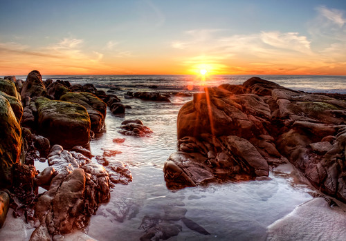 california ca sunset seascape beach water landscape dawn interesting sand rocks flickr pacific sandiego lajolla nepture drapervillas chadmcdonald