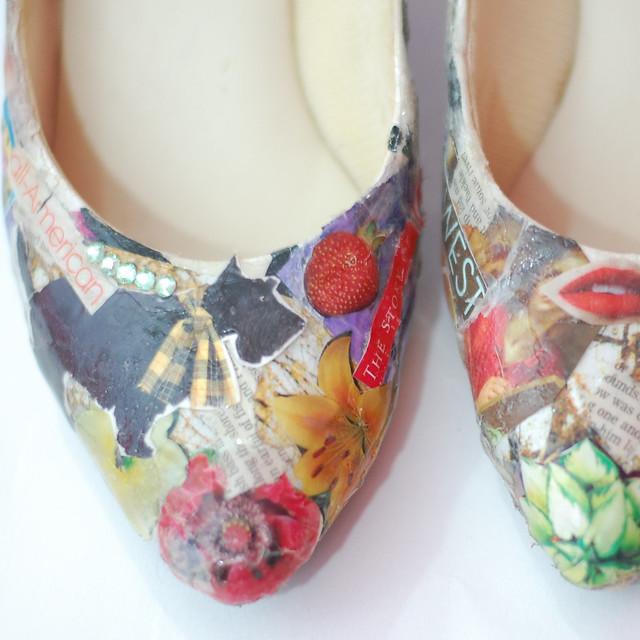 Decoupage Sports Shoes