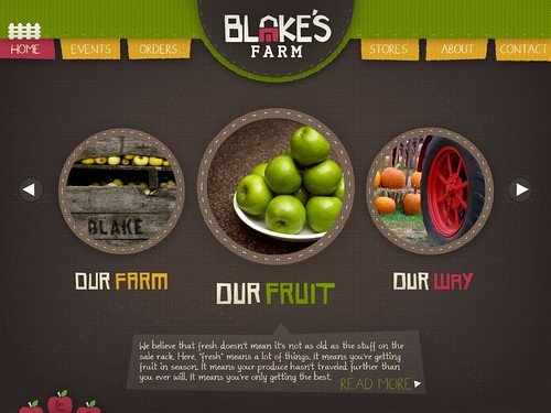 (first front-end concept) Blake Farms Web Concept [class project]