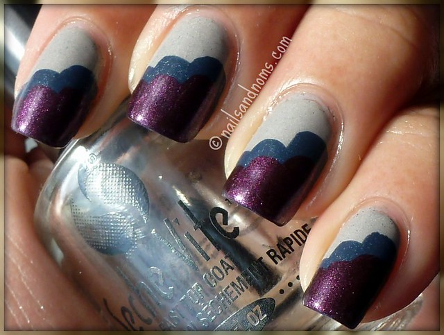 "Nailside ""Clouds"" Manicure with Essence Vampire's Love Collection"