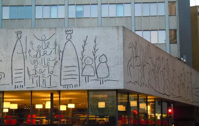 Se or del biombo los esgrafiados de picasso en el colegio - Colegio arquitectos barcelona ...
