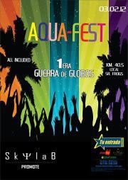 03 Feb | Aqua-Fest 1era Guerra de Globos - Local Sr Frogs