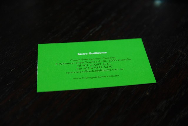 Business card details - Bistro Guillaume