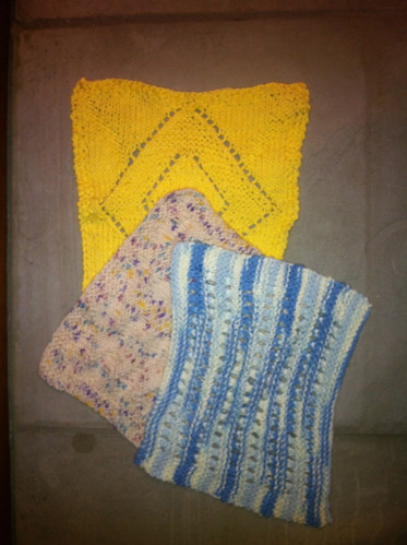Knitted washclothes (by Me)